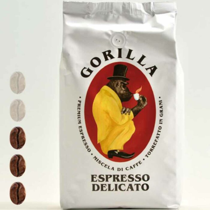 Gorilla Kaffee Espresso Delicato Weiß