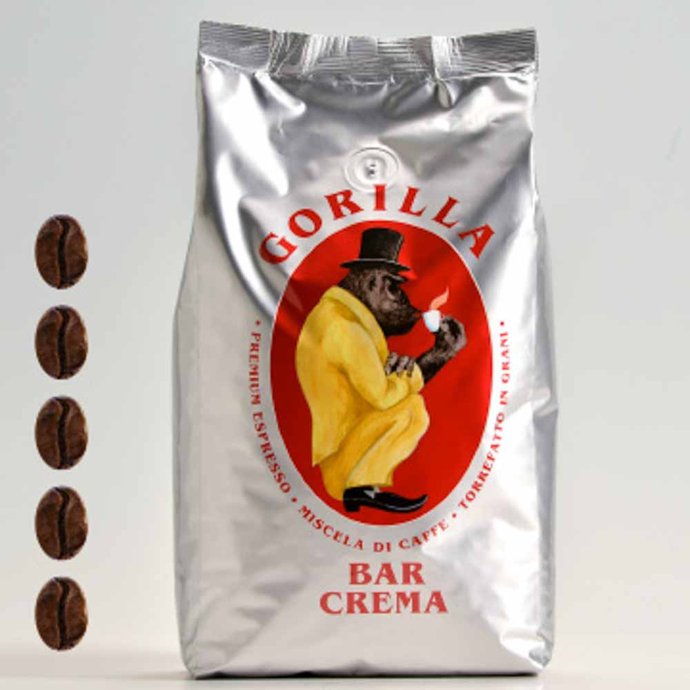 Gorilla Kaffe Bar Crema silber