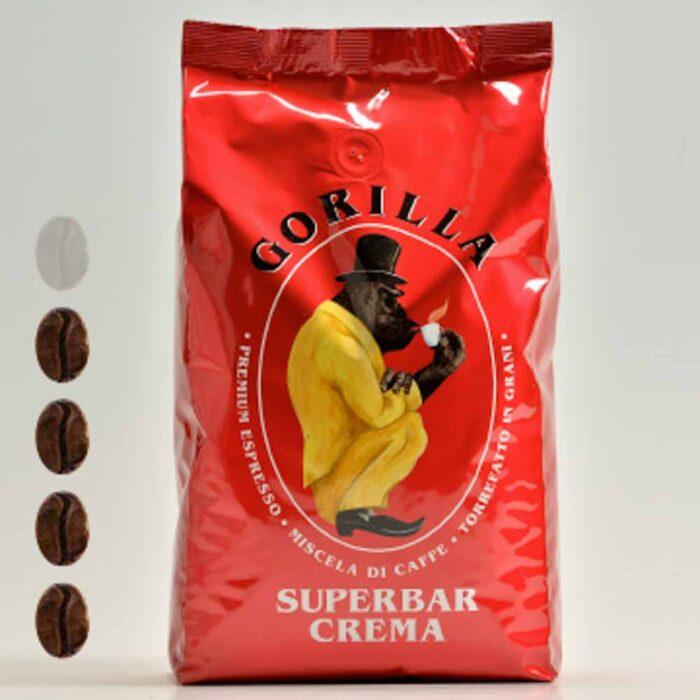 Gorilla Kaffe Superbar Crema rot